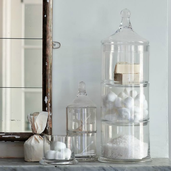 Decorating with apothecary jars driven by decor for Bathroom apothecary jar ideas
