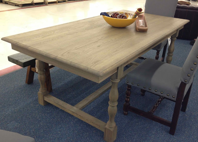 A cheaper knock-off of Restoration Hardware's Monastery Table
