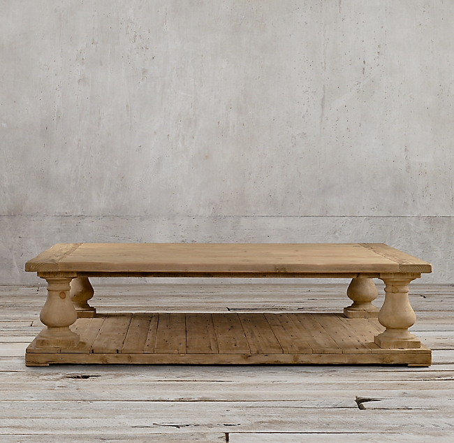 Restoration Hardware's Balustrade Salvaged Wood Coffee Table