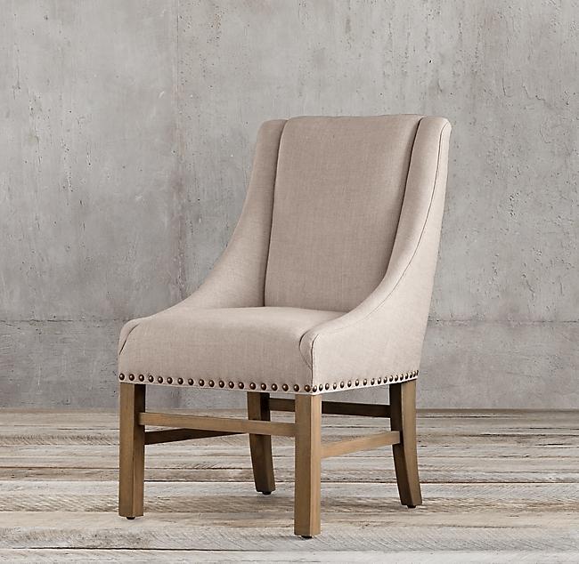 Restoration Hardware S Nailhead Fabric Armchair