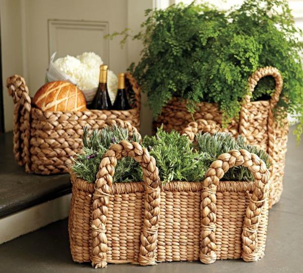 the wicker bins storage baskets handles small ashcraft cf decorative s with decor storag