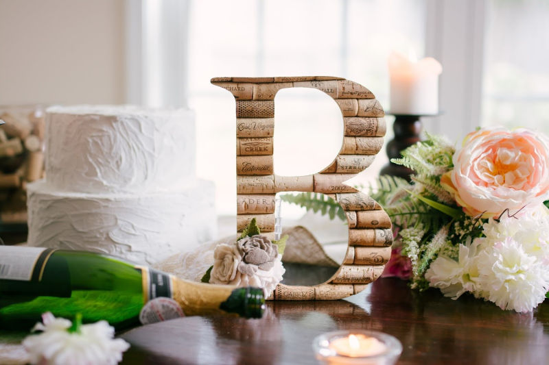 Love this wine cork letter!!