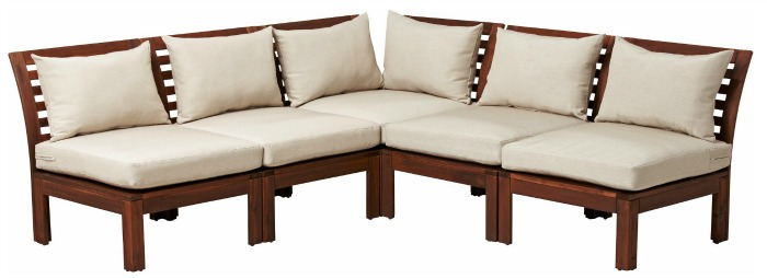 IKEA's APPLARO outdoor sectional - one of the inexpensive sectional options in this post!