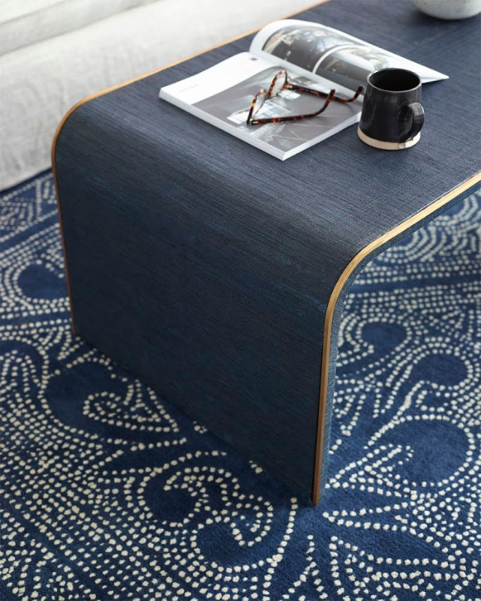 Gorgeous indigo rug that looks beautiful when decorating with colors or neutrals!