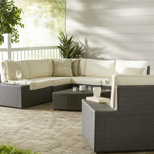 a great inexpensive choice for an outdoor sectional - Outdoor Sectionals