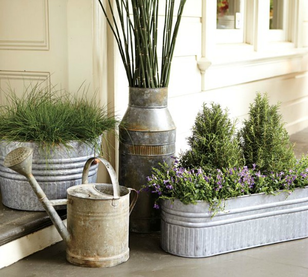 Fresh Galvanized Metal Tubs, Buckets, & Pails as Planters | Driven by Decor RQ21