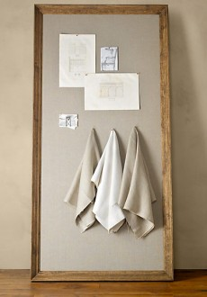 DIY Restoration Hardware Bulletin Board