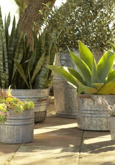 Pottery-Barn-Eclectic-Galvanized-Metal-Planters