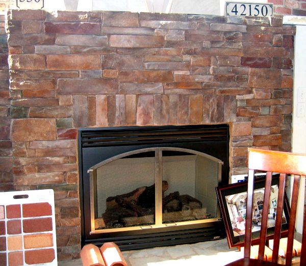 basic trim around a stone veneer fireplace - How To Stone Veneer Fireplace