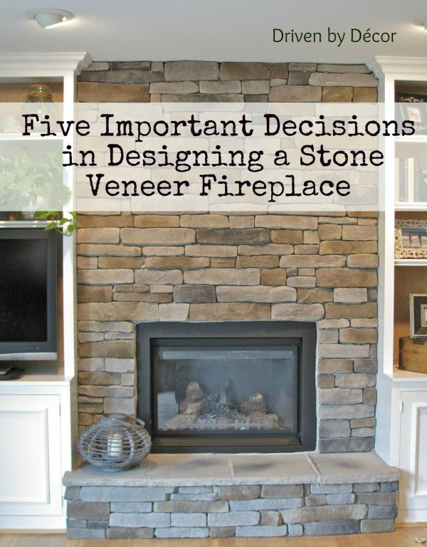building a stone veneer fireplace tips for design decisions - Fireplace With Stone Veneer