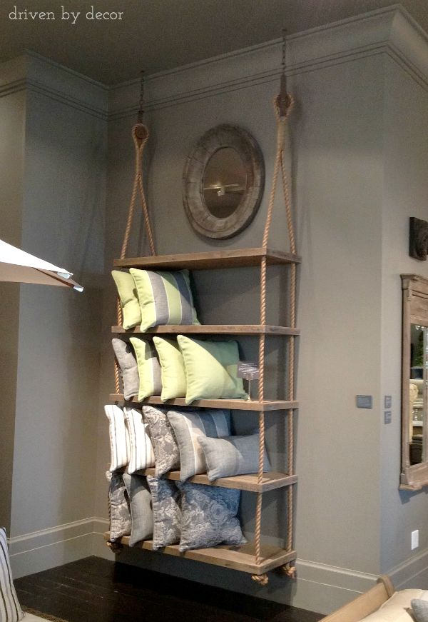 Restoration Hardware Rope Hung Shelving