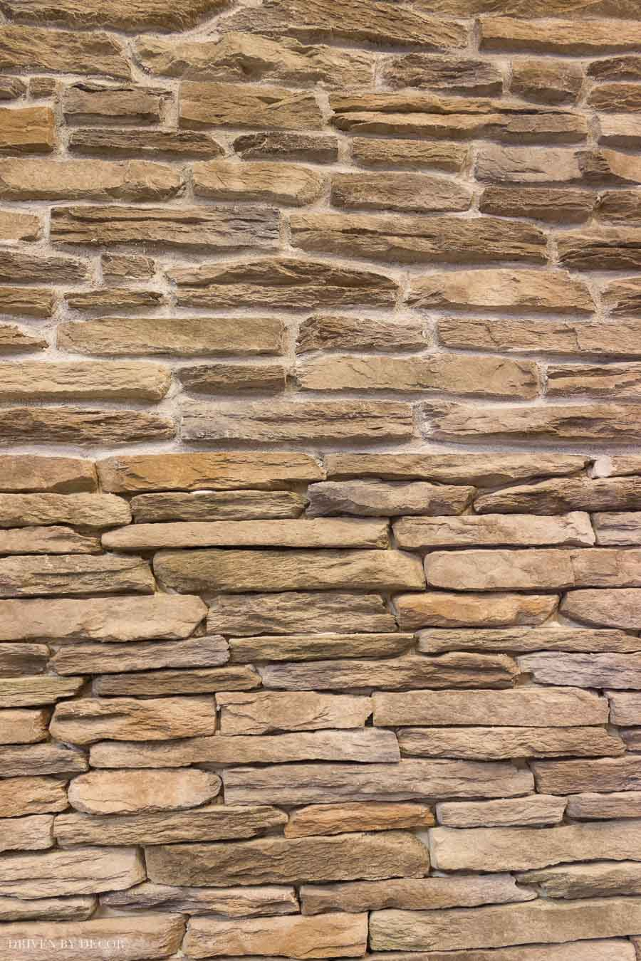 Great example of stacked stone both with and without (dry stacked) mortar