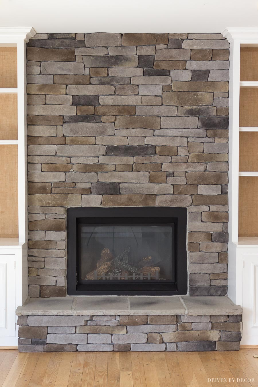 Loving This Ledgestone Stacked Stone Fireplace Such A Transformation From The Brick