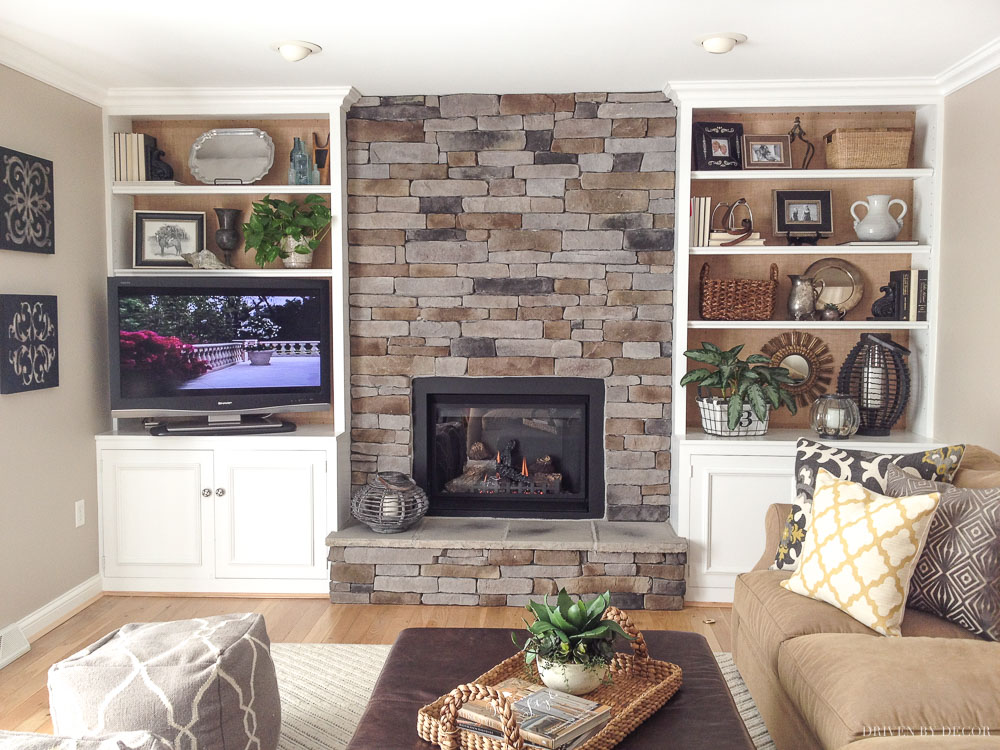 Loving This Stone Veneer Fireplace The Stacked Is Gorgeous