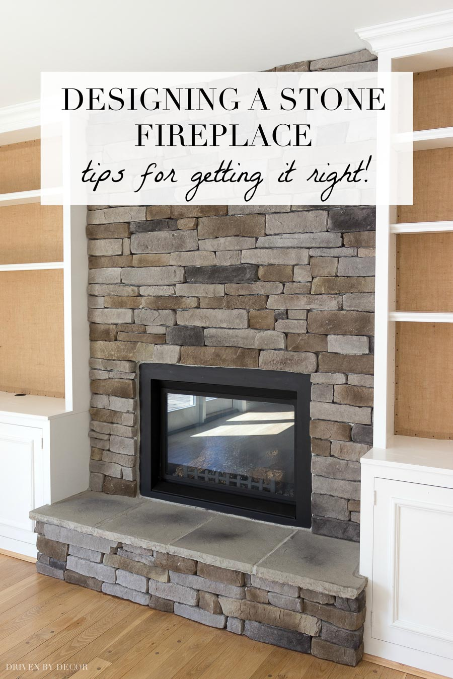 Great Tips For Designing A Stone Fireplace Like This Beautiful Stacked Veneer