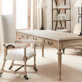 Restoration Hardware's French Partner's Desk - would work beautifully as a kitchen table too!