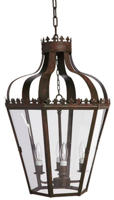Gorgeous, high-end looking hanging lantern pendant