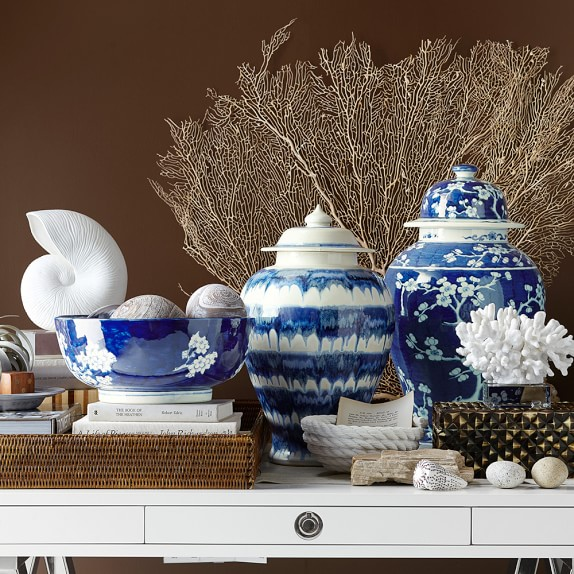 Collection of blue and white ginger jars and bowls - beautiful!
