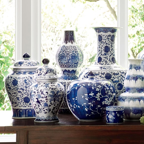 Gorgeous blue and white ginger jars!