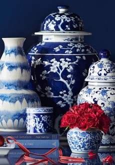 Blue and White Chinese Porcelain Vases & Ginger Jars