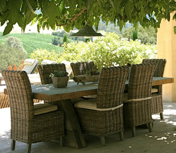 Kubu wicker dining chairs - Vignette Design