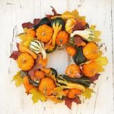 Mini-Pumpkin-Wreath