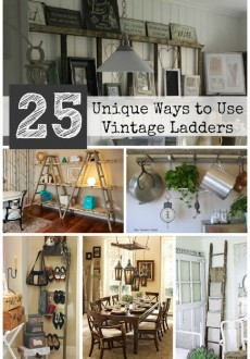 Pinterest-ladder-collage-25-unique-ways-to-use-vintage-antique-old-ladders-grey