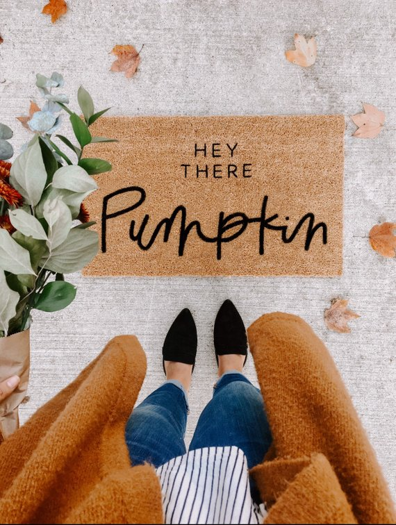 The cutest fall doormat!! Source in post!