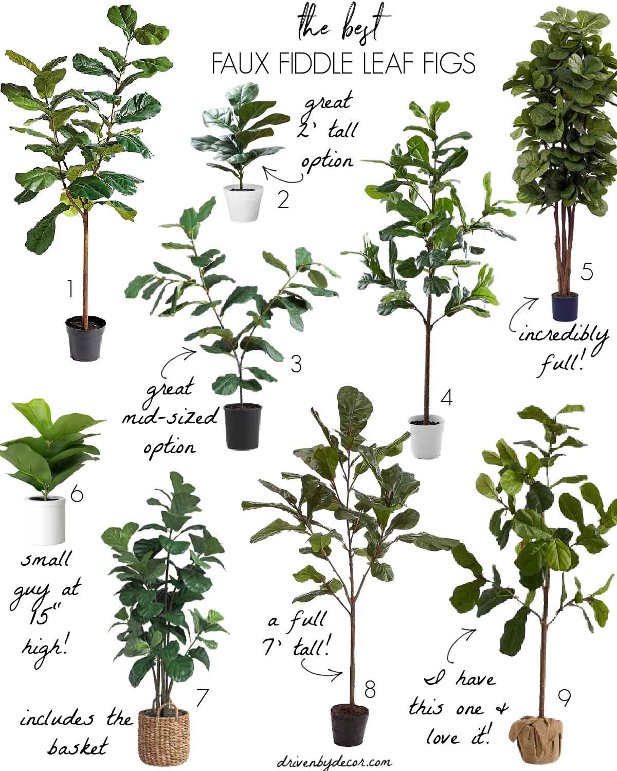 The best faux fiddle leaf fig trees!
