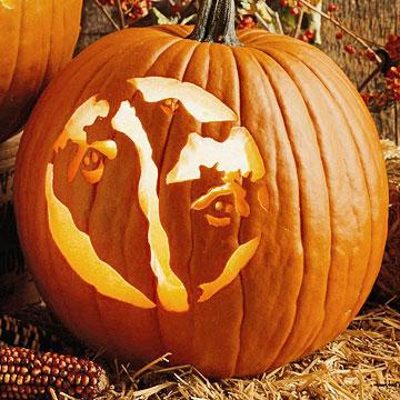 Happy Goblins Ghost Pumpkins Carving Stencil Pattern