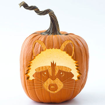 Raccoon Pumpkin Carving Stencil Template