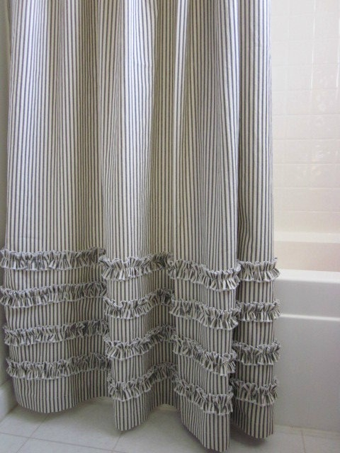 Decorating With Ticking Stripe Fabric