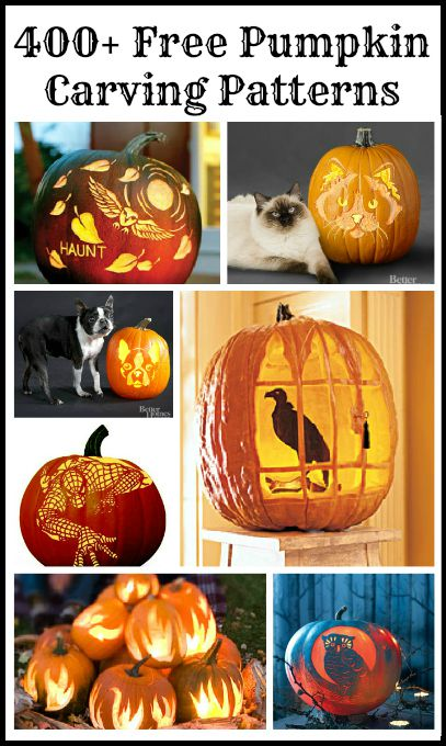 Tons of free pumpkin carving templates!