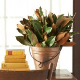 magnolia-leaves-in-copper-pail