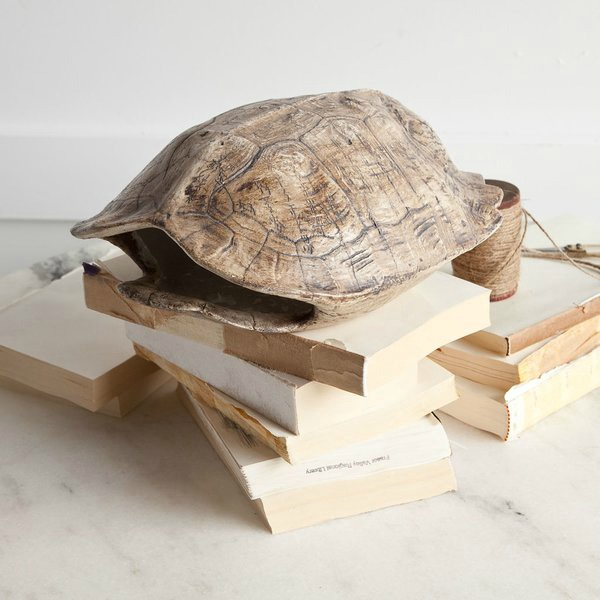 Faux resin turtle shell sculpture - link to buy in post!