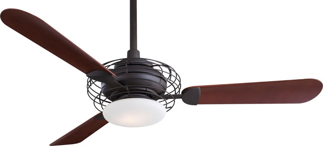 Acero ceiling fan in oil rubbed bronze and mahogany