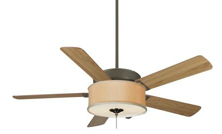 Drum shade kit for ceiling fan