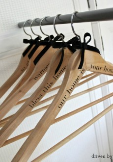 DIY Personalized Wood Hangers