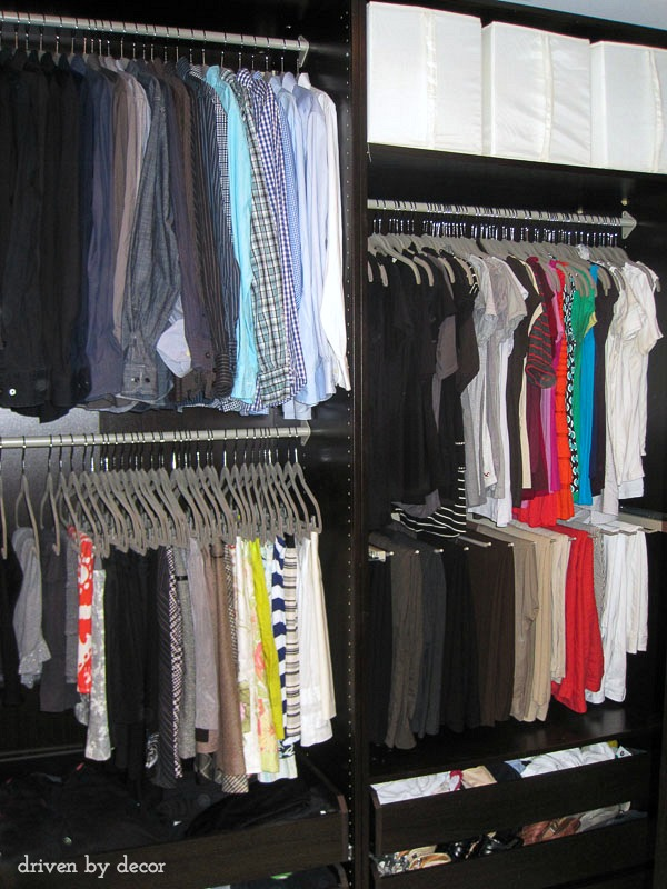 Our Closet With PAX Wardrobes And KOMPLEMENT Accessories