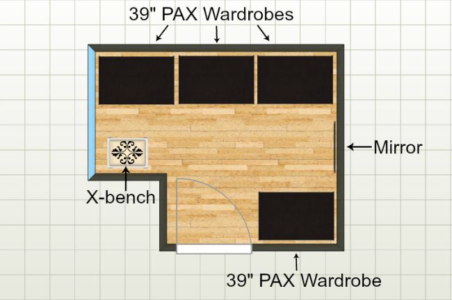 Plan for layout of PAX closet units