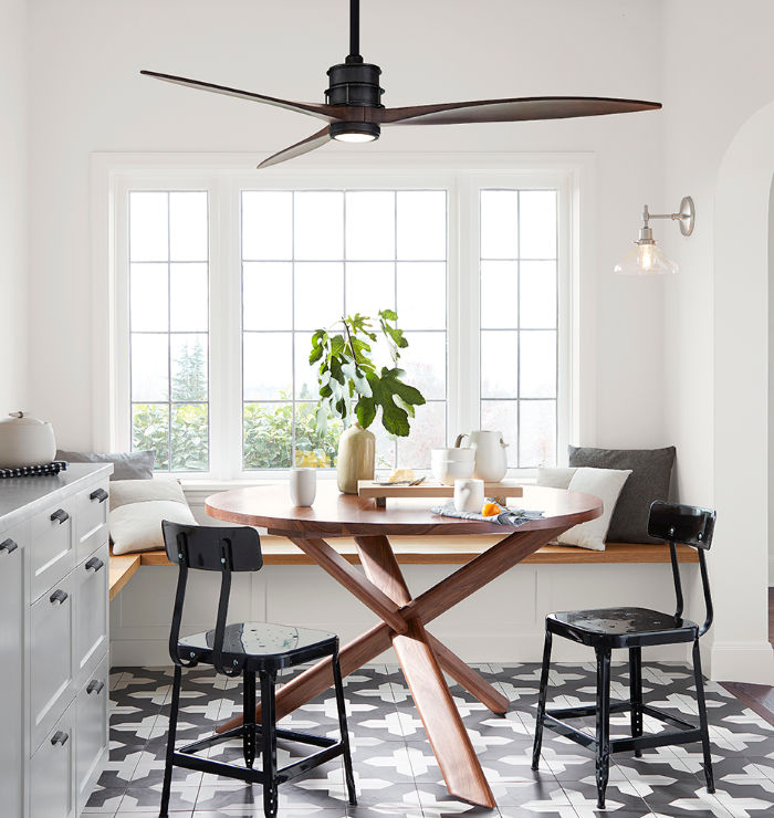 With ceiling fans, simple is best! Love this one!
