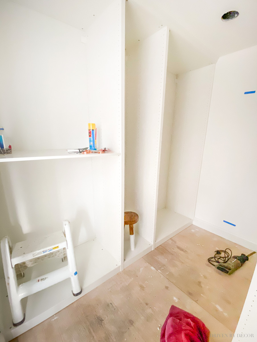 How we installed the IKEA PAX wardrobes in our closet!