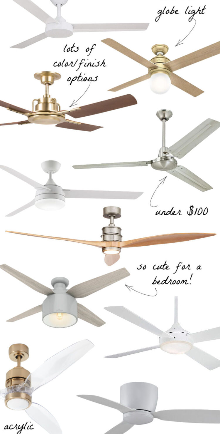 So many pretty ceiling fans in this post!