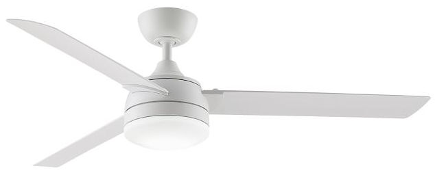 A simple white ceiling fan with a light that's beautiful!