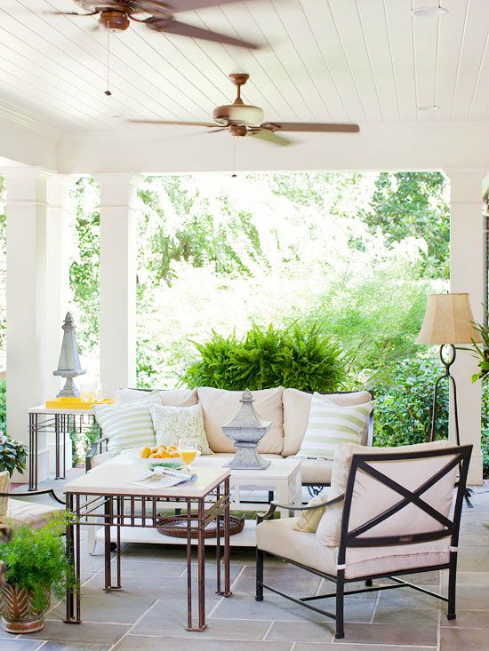 Ceiling fans used on porch