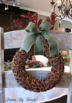 Holiday Decorating: DIY Star Anise Wreaths