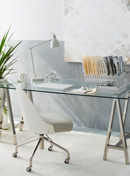 The Perfect Glass Top Desk for Our Home Office