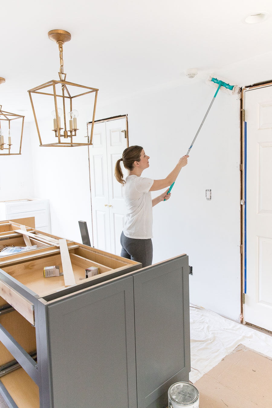Wondering how you clean drywall dust before painting? This is genius!