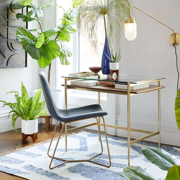 The perfect small space glass desk!