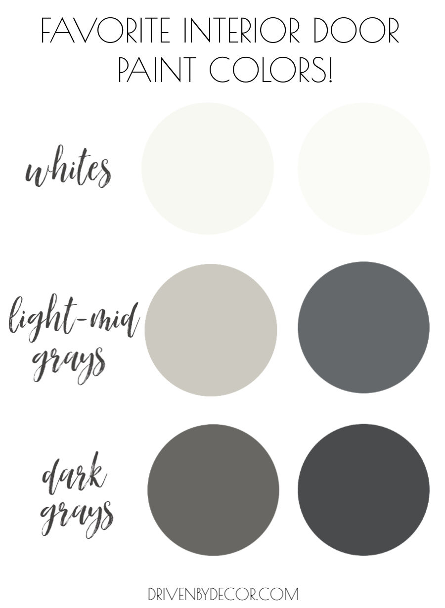 My six favorite interior door paint colors!
